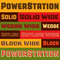 The PowerStation Font Family by Michael Doret