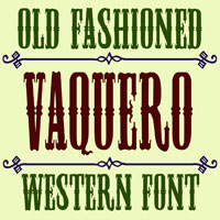 Old West Font Style