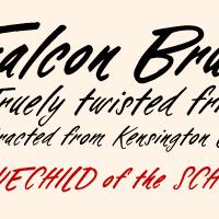 Falcon Brushscript Poster