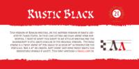 Cal Rustic Black Font Download