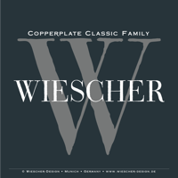 Wiescher Design: CopperplateClassic Brochure by Gert Wiescher