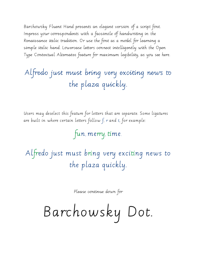 Barchowsky Fluent Hand and Dot by Nan Jay Barchowsky