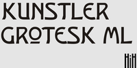 Kunstler Grotesk ML by HiH