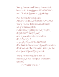 Young Finesse Specimen PDF by Doyald Young