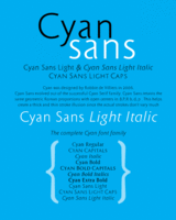 Cyan Sans by Wilton Foundry