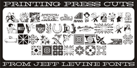 Printing Press Cuts JNL Font Download