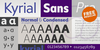 Kyrial Sans Pro Free regular by Mostardesign