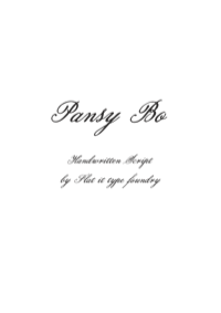 Pansy Bo by Flat-it