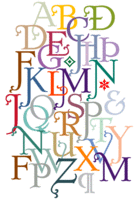 Dutch Mediaeval Initials by Canada Type