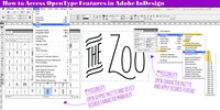 How to use OpenType features in Adobe InDesign