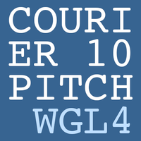 Courier 10 Pitch WGL4