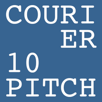 Courier 10 Pitch Poster