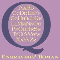 Engravers' Roman BT Poster