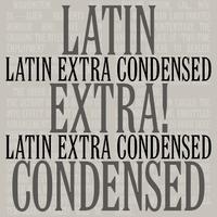 Latin Extra Condensed