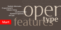 Mart: Open type features