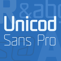 UNicod Sans Pro Font family by Mostardesign Studio