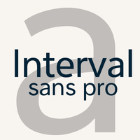 Interval Sans Pro-An humanist Opentype font family by Mostardesign Studio - Olivier Gourvat