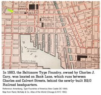 Map - Baltimore Type Fdry by HiH