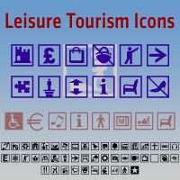 Leisure Tourism Icons DT