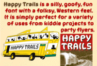 Happy Trails poster by John Bomparte