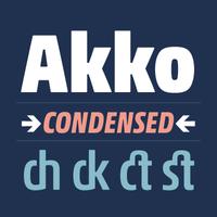 Akko Pro Condensed