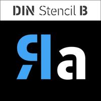 PF DIN Stencil B