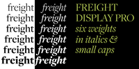 Freight Display Pro 5 by GarageFonts