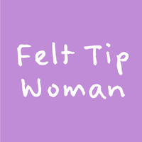 Felt Tip Woman Poster