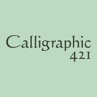 Calligraphic 421 Poster