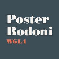 Poster Bodoni WGL4