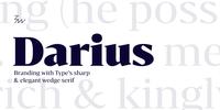 Bw Darius Font Download