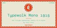 Typewalk Mono 1915 Font Download