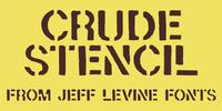 Crude Stencil JNL Font Download