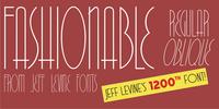 Fashionable JNL Font Download
