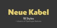 Neue Kabel Font Download