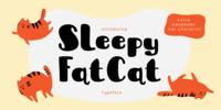 Sleepy Fat Cat Font Download