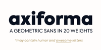 Axiforma Font Download