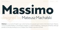 Massimo Font Download