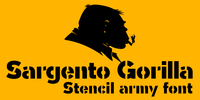 Sargento Gorila Font Download