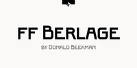 FF Berlage Beurs Font Download