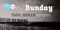 Bunday Slab™ Font Download