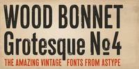 Wood Bonnet Grotesque No 4™ Font Download