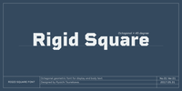 Rigid Square™ Font Download
