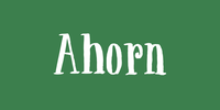 Ahorn Font Download