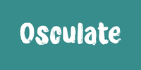 Osculate Font Download