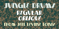 Jungle Drums JNL Font Download