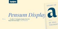 Pensum Display Font Download
