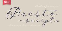 Presto Script Font Download