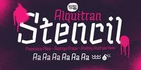Alquitran Stencil Font Download