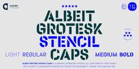 Albeit Grotesk Stencil Caps Font Download